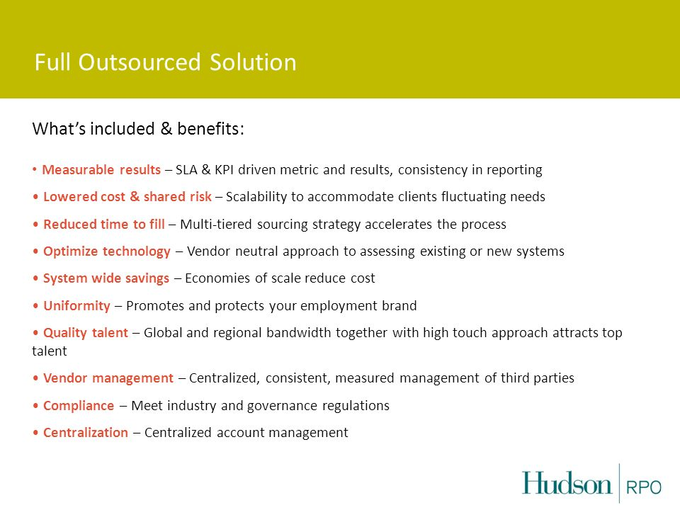 Full Outsourced Solution