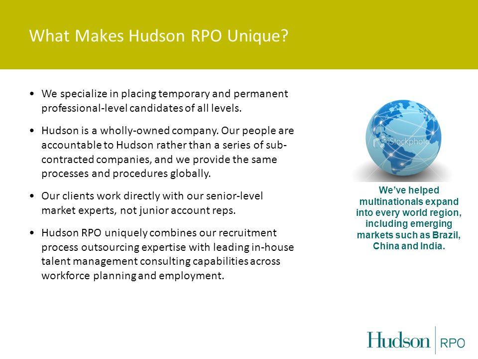What Makes Hudson RPO Unique