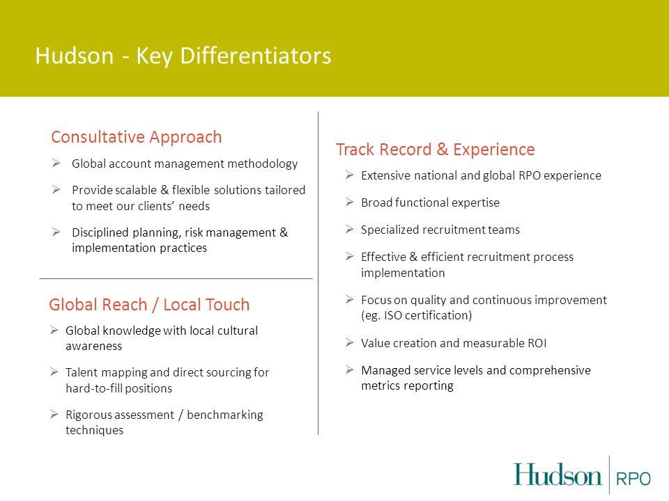 Hudson - Key Differentiators