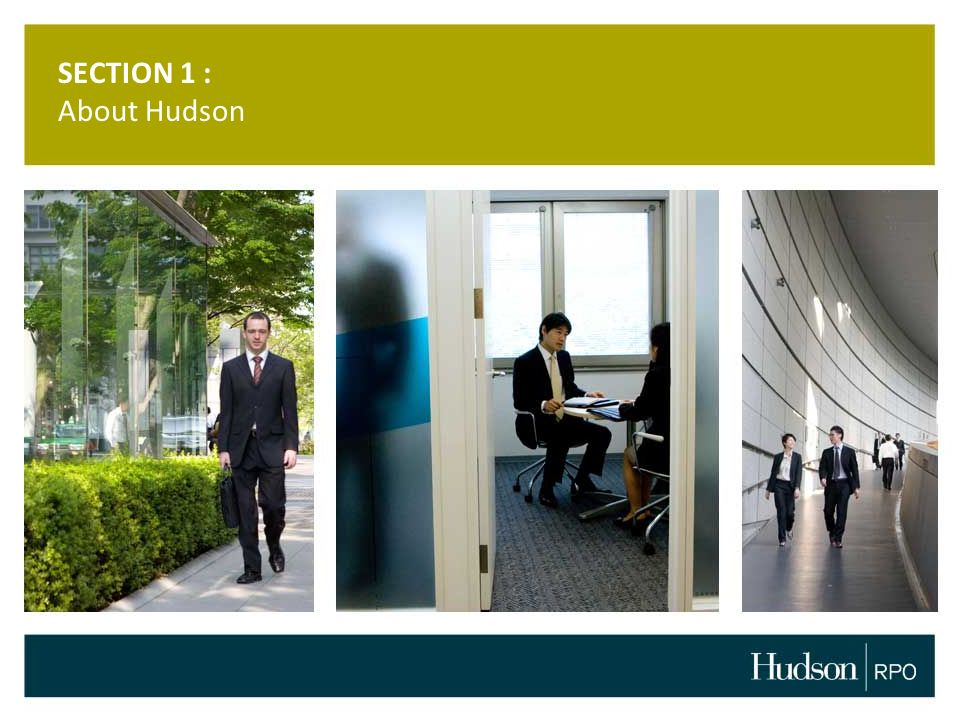 SECTION 1 : About Hudson