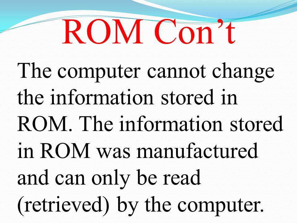 ROM Con't