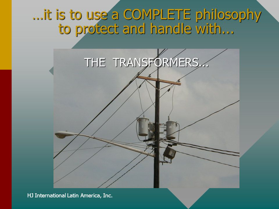 …it is to use a COMPLETE philosophy to protect and handle with...