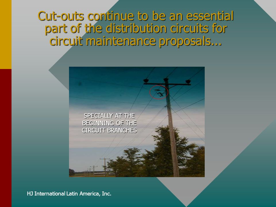 Cut-outs continue to be an essential part of the distribution circuits for circuit maintenance proposals...