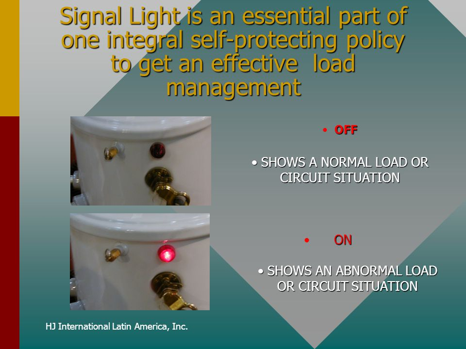 Signal Light is an essential part of one integral self-protecting policy to get an effective load management