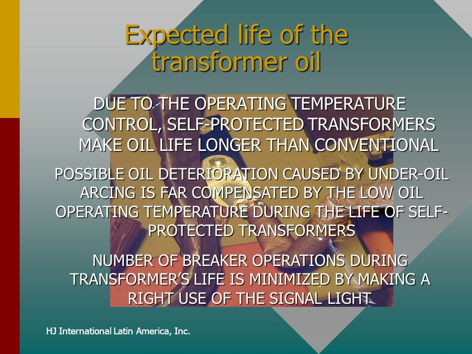 Expected life of the transformer oil