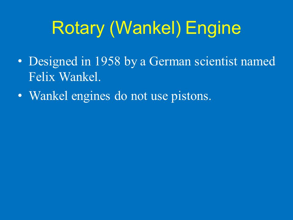 Rotary (Wankel) Engine