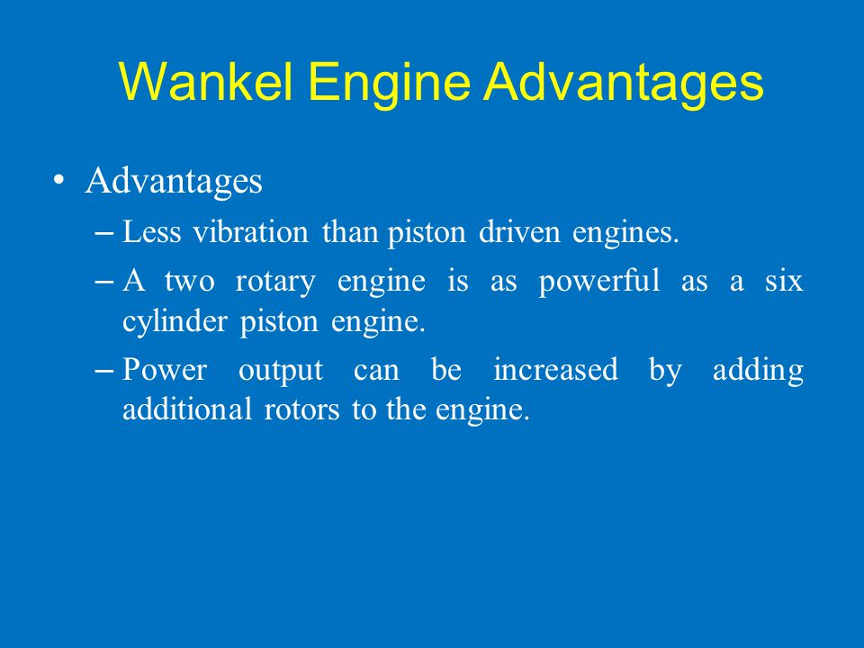 Wankel Engine Advantages