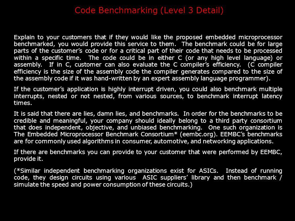 Code Benchmarking (Level 3 Detail)