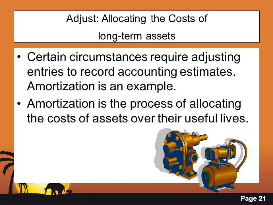 Adjust: Allocating the Costs of long-term assets