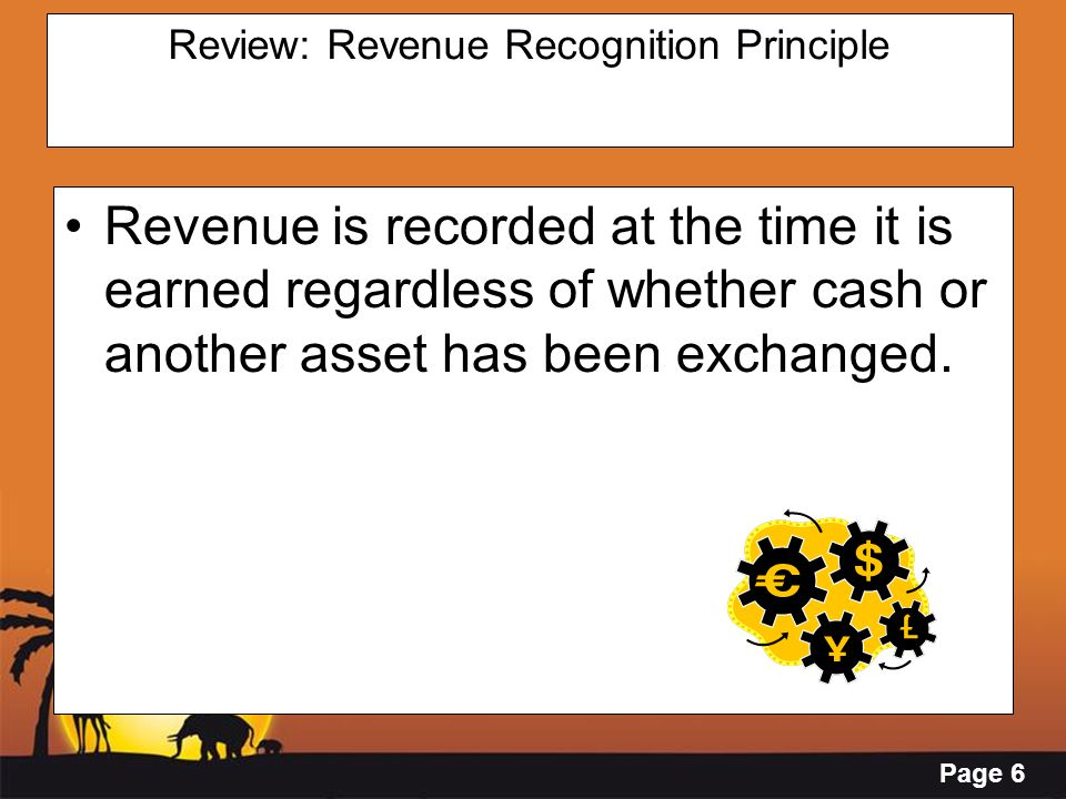 Review: Revenue Recognition Principle