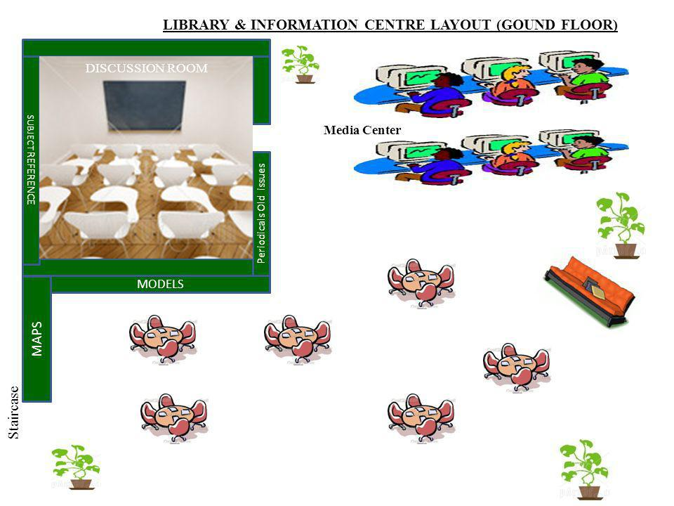 LIBRARY & INFORMATION CENTRE LAYOUT (GOUND FLOOR)