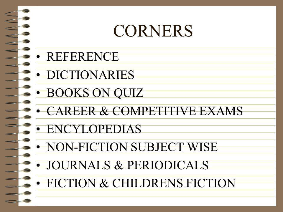 CORNERS REFERENCE DICTIONARIES BOOKS ON QUIZ