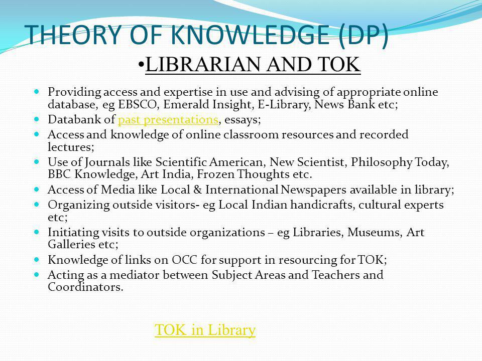 THEORY OF KNOWLEDGE (DP)