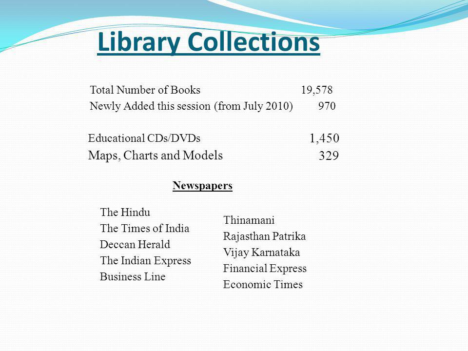 Library Collections 1,450 329 Maps, Charts and Models