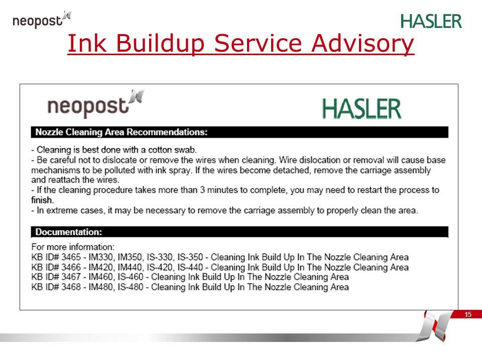Ink Buildup Service Advisory