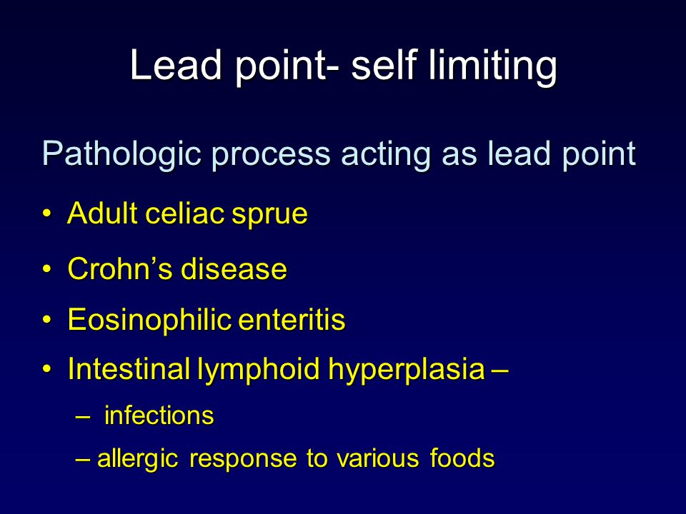 Lead point- self limiting