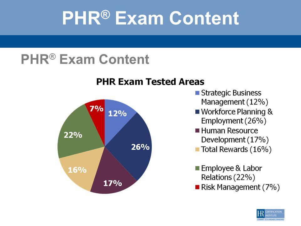 PHR® Exam Content PHR® Exam Content 14