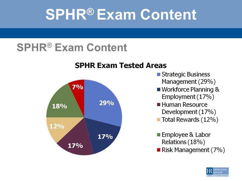 SPHR® Exam Content SPHR® Exam Content