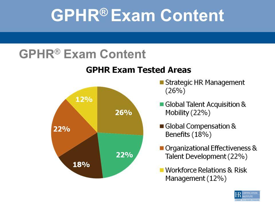 GPHR® Exam Content GPHR® Exam Content