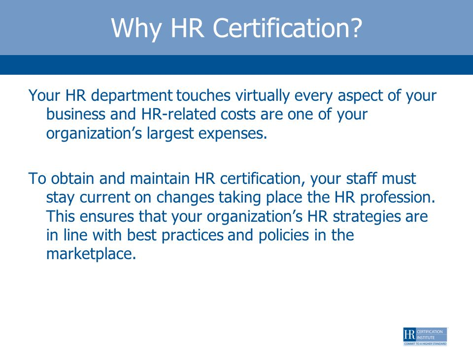Why HR Certification