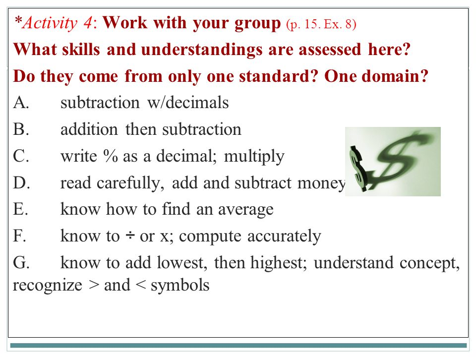 *Activity 4: Work with your group (p. 15. Ex. 8)