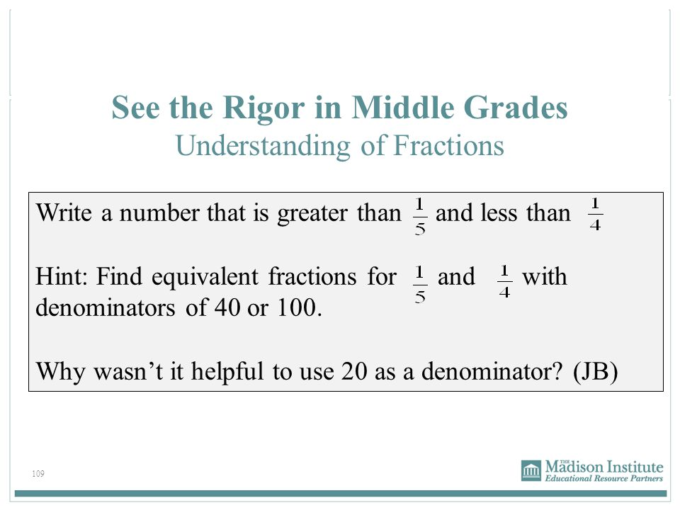 See the Rigor in Middle Grades