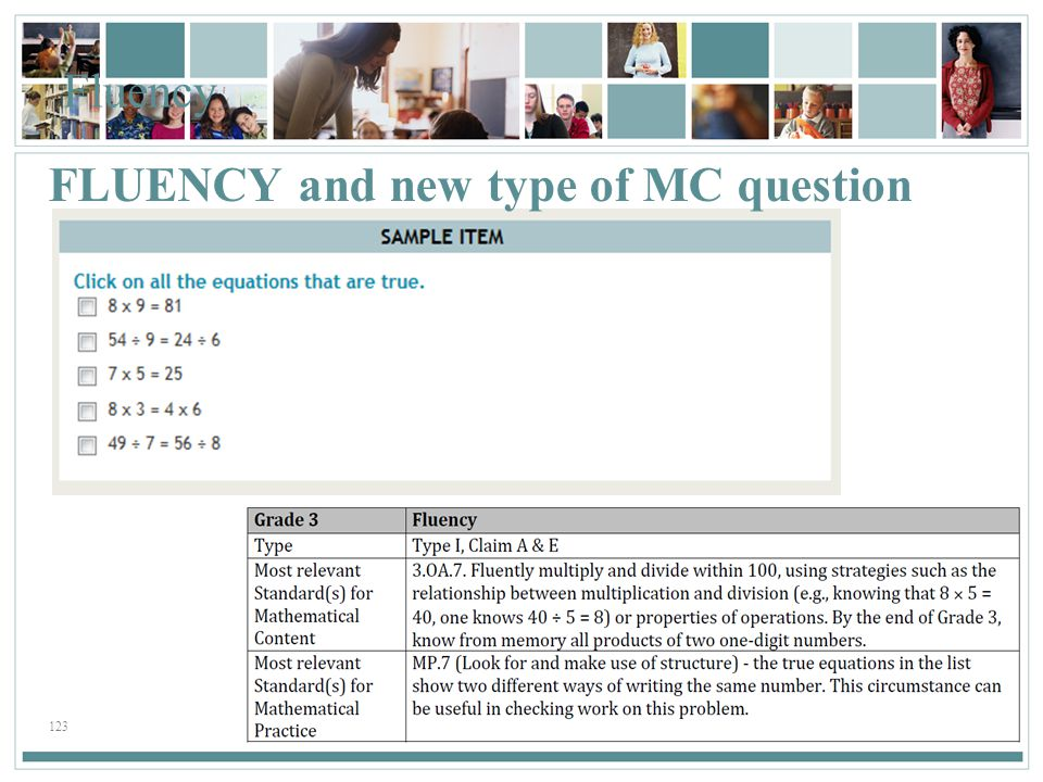 FLUENCY and new type of MC question