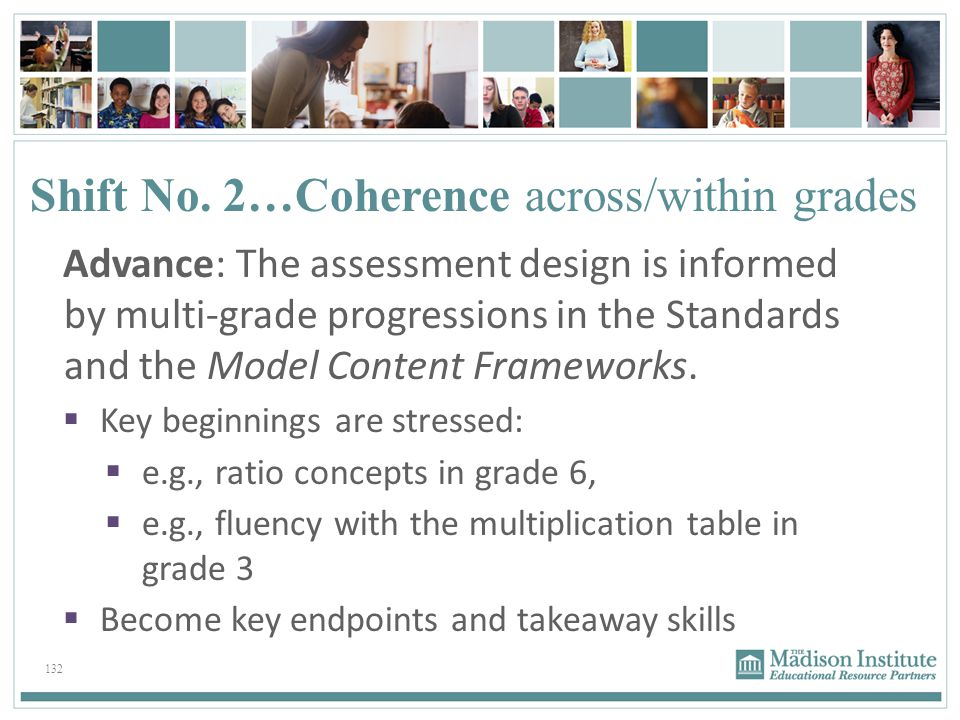 Shift No. 2…Coherence across/within grades