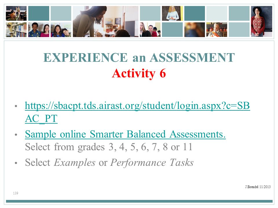 EXPERIENCE an ASSESSMENT Activity 6