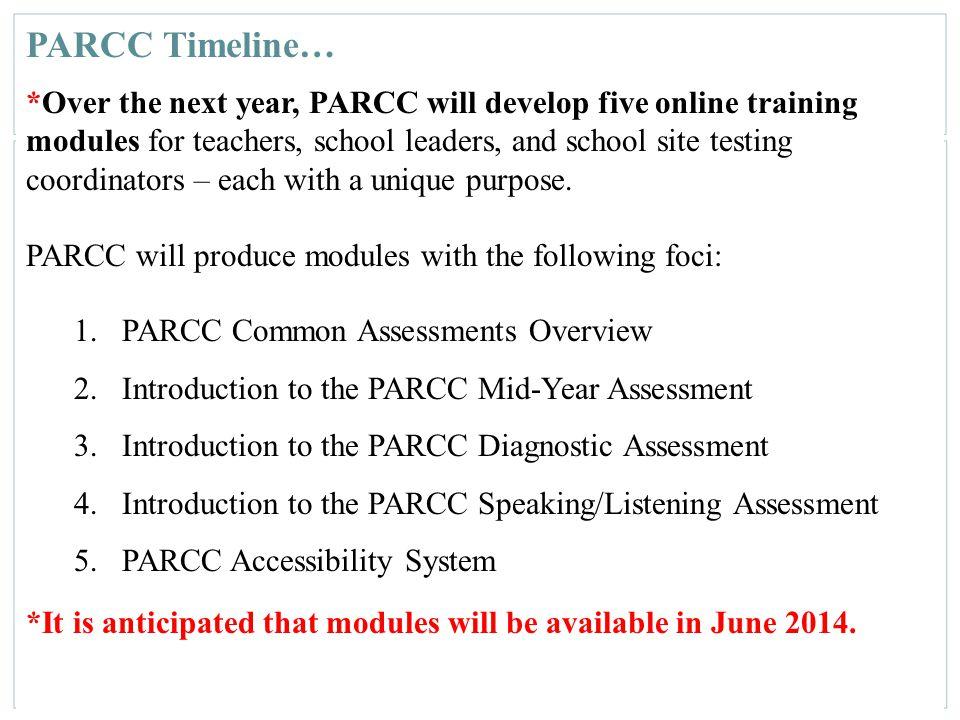 PARCC Timeline…