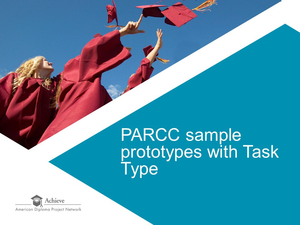 PARCC sample prototypes with Task Type