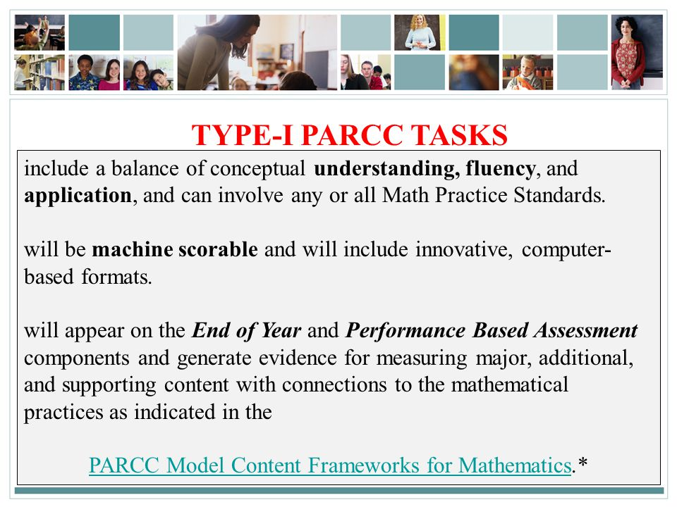 PARCC Model Content Frameworks for Mathematics.*