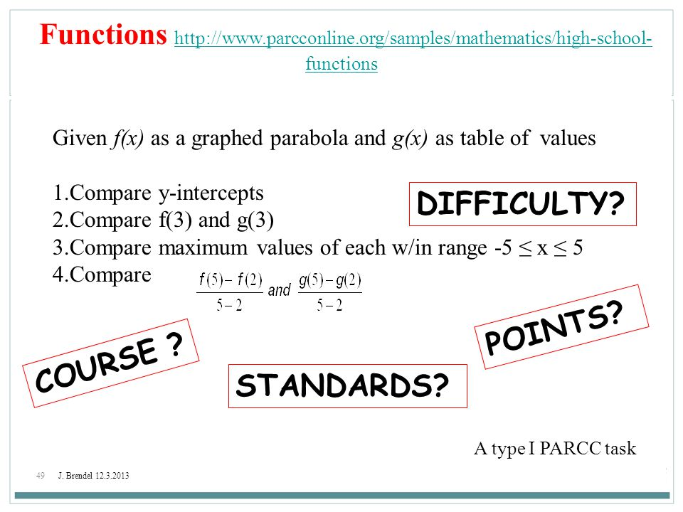 Functions http://www. parcconline