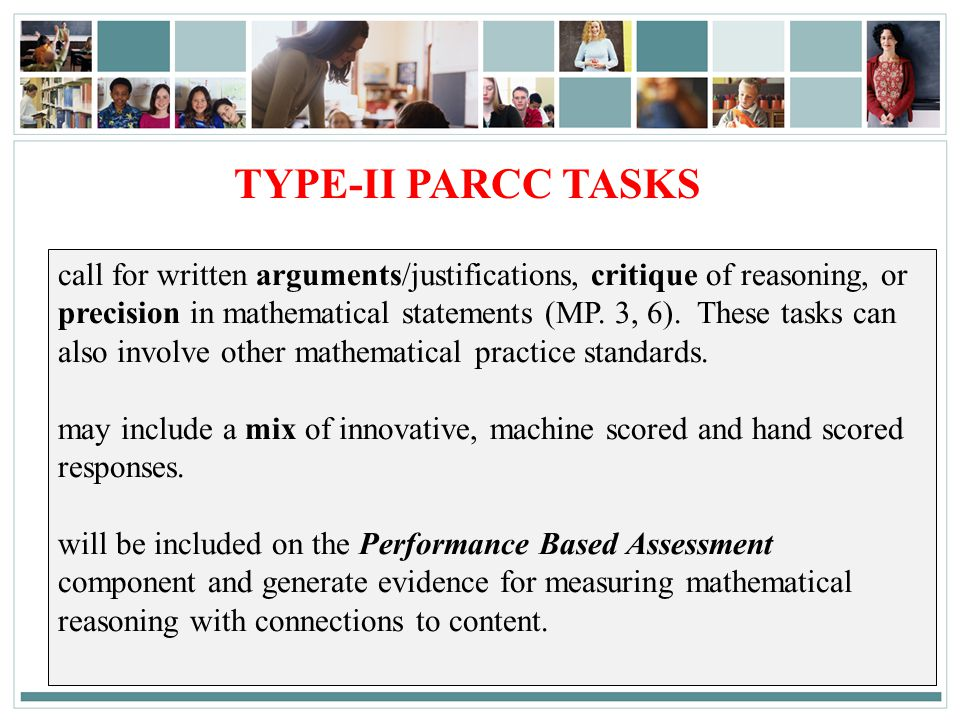 TYPE-II PARCC TASKS