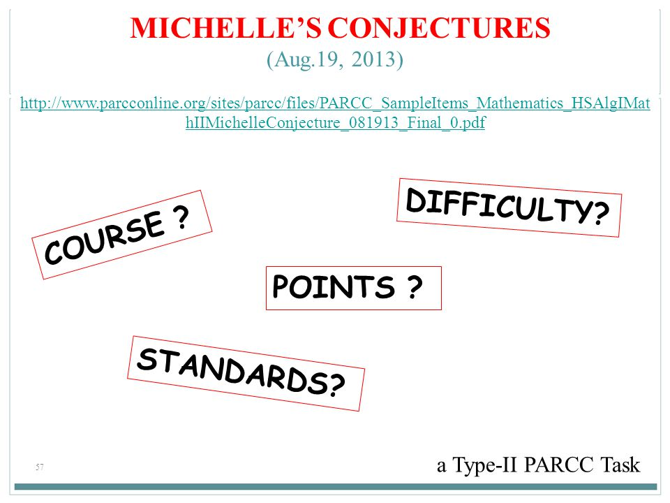 MICHELLE'S CONJECTURES