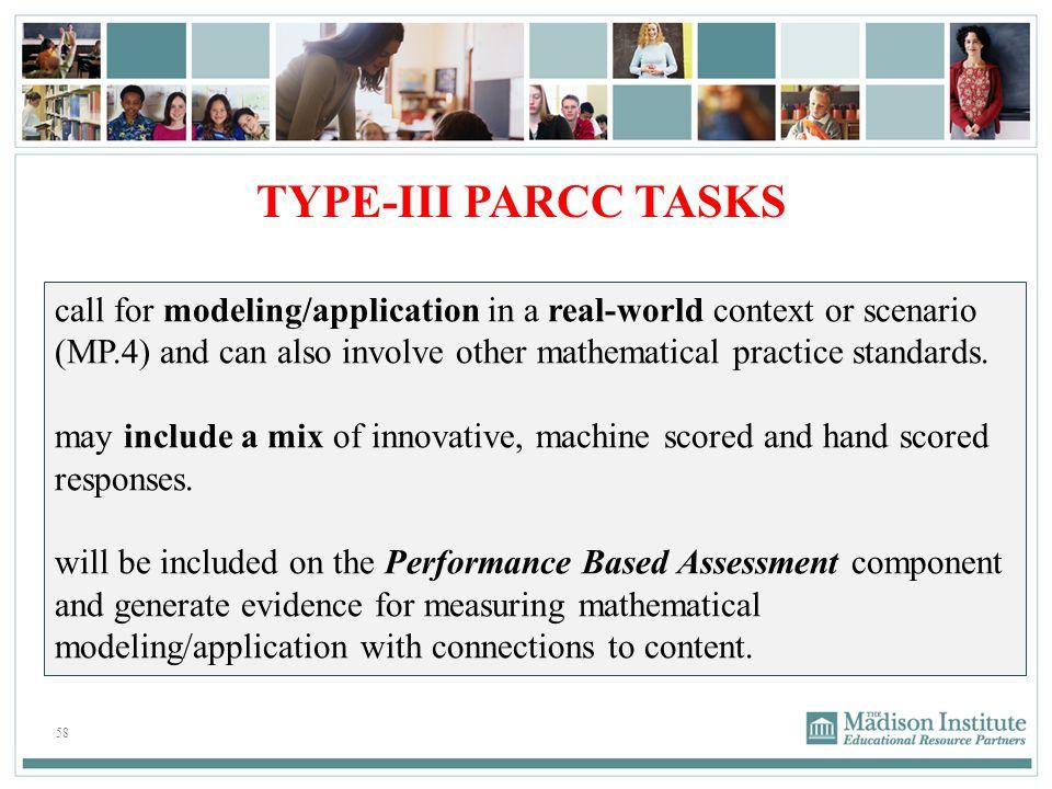TYPE-III PARCC TASKS