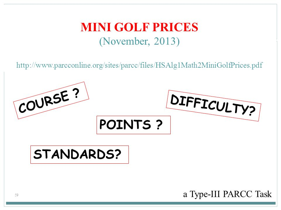 MINI GOLF PRICES COURSE DIFFICULTY POINTS STANDARDS