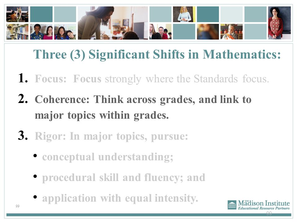 Three (3) Significant Shifts in Mathematics: