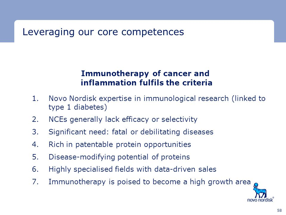 Immunotherapy of cancer and inflammation fulfils the criteria