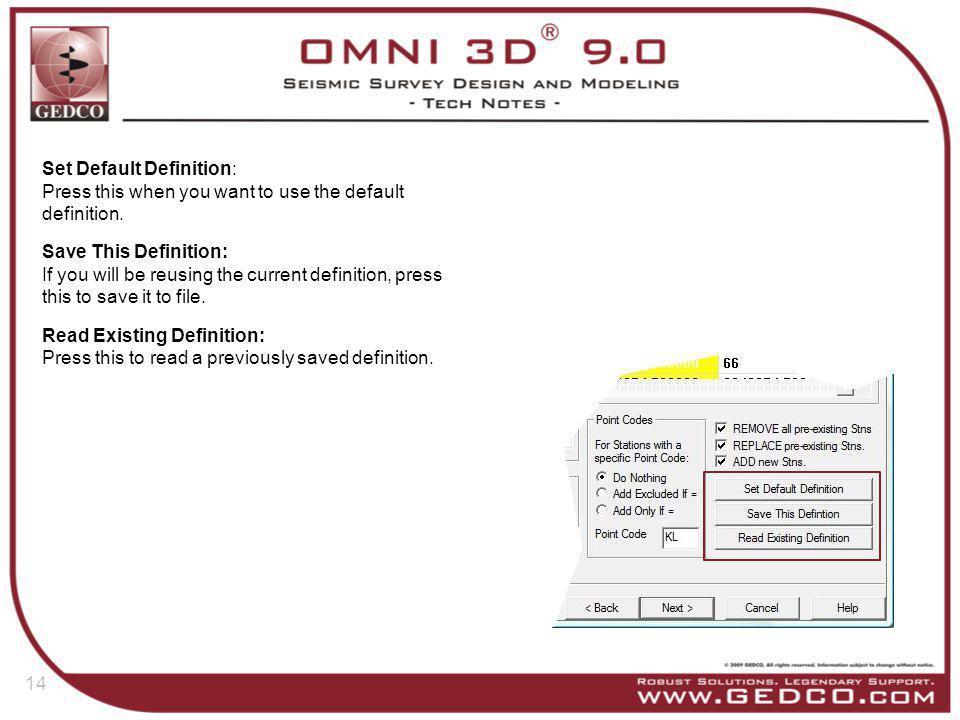Set Default Definition: