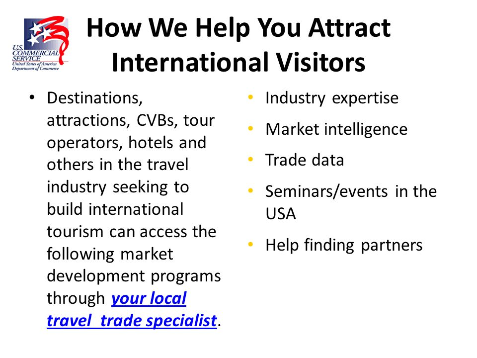 How We Help You Attract International Visitors
