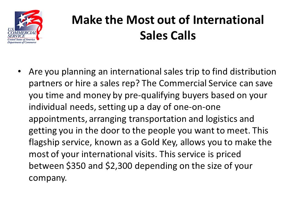 Make the Most out of International Sales Calls