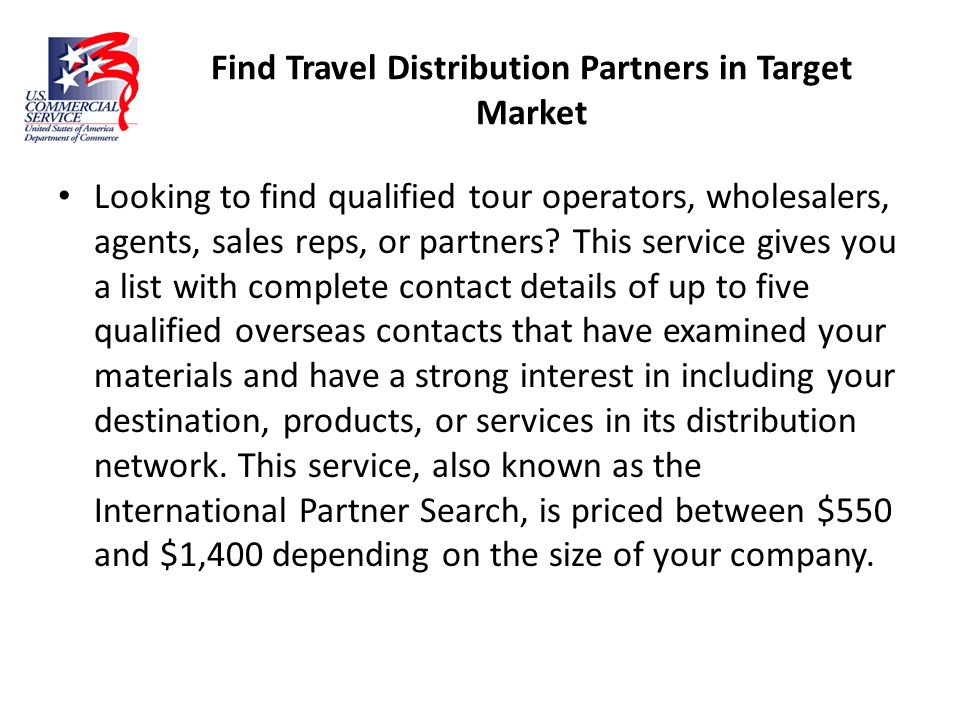 Find Travel Distribution Partners in Target Market