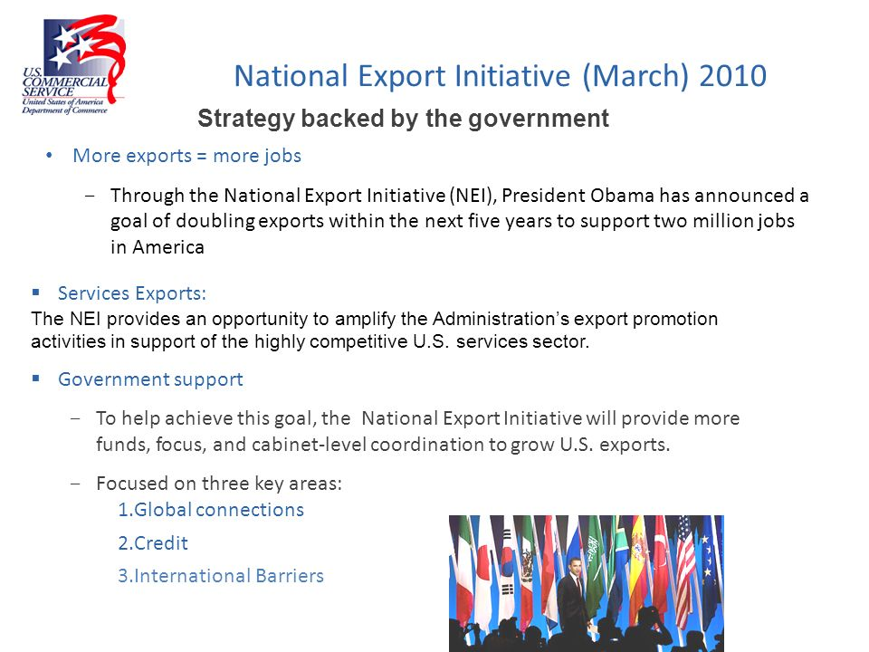 National Export Initiative (March) 2010