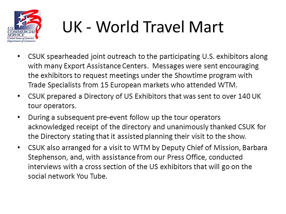 UK - World Travel Mart