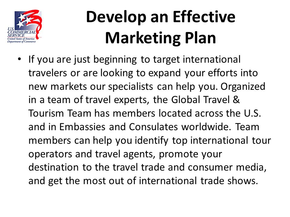 Develop an Effective Marketing Plan