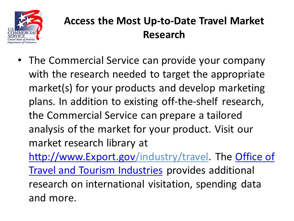 Access the Most Up-to-Date Travel Market Research