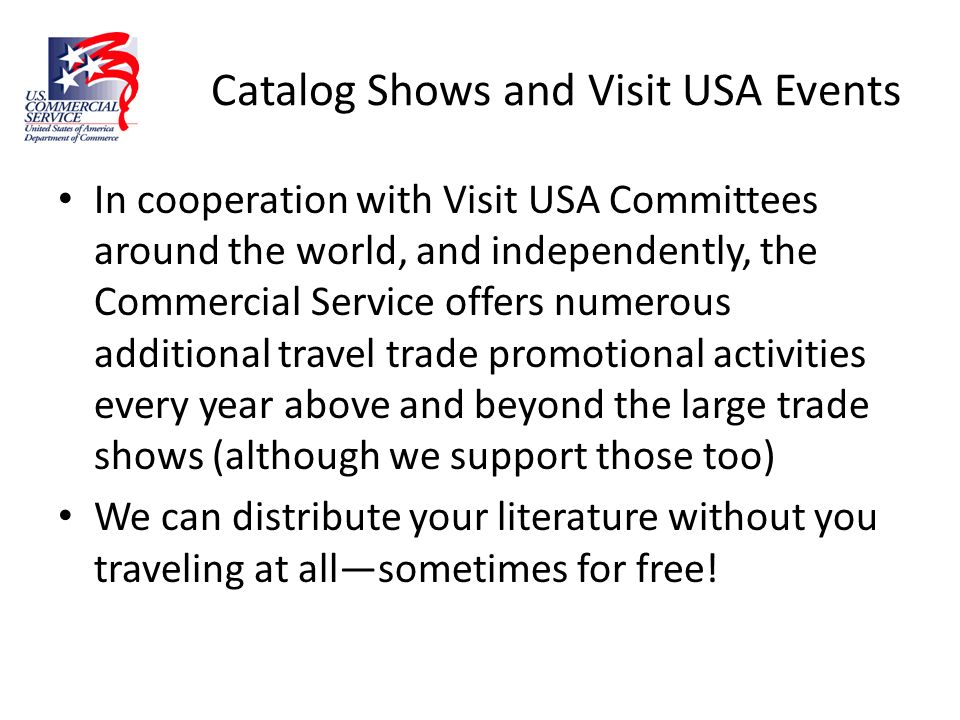 Catalog Shows and Visit USA Events