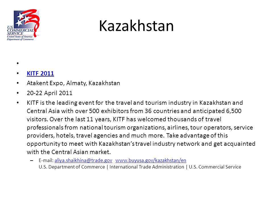 Kazakhstan KITF 2011 Atakent Expo, Almaty, Kazakhstan 20-22 April 2011