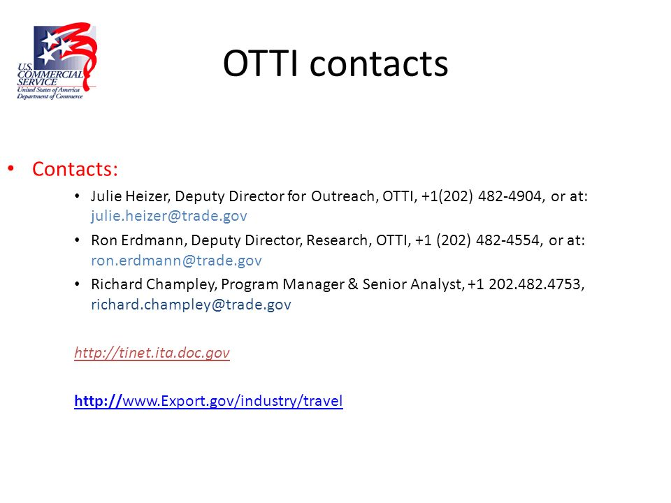 OTTI contacts Contacts: